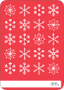 Colored Snowflakes - Back View