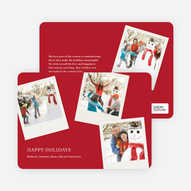 Polaroid Collection Holiday Photo Cards