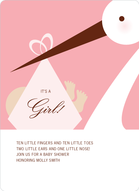 Stork Baby Shower Invitations : Paper Culture