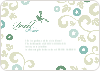 Morning Glory Wedding Shower Invites - Front View