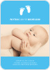 Baby Feet Birth Announcements - Front View